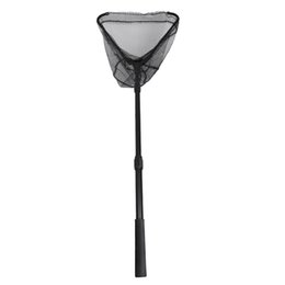 $enCountryForm.capitalKeyWord UK - Foldable Landing Net Triangle Brail Fly Fishing Fish Net Keeper Black with 59inch Extending Telescoping Pole Casting Trap