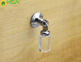 Chrome Crystal Cabinet Pulls Australia - Crystal Drop Knobs Dresser Drawer Knobs Handles Cabinet Pull Handle Silver Clear Knobs Modern Furniture Hardware