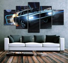 $enCountryForm.capitalKeyWord Australia - Home Decor Canvas Hd Print Posters 5 Panel Luxury Sports Car Rocket League Game Painting Modern Wall Art Classic Modular Picture