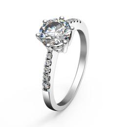 $enCountryForm.capitalKeyWord UK - Elegant simplicity 1Ct 6.5mm G-H Moissanite Diamont Ring CHARLES & COLVARD WARRANTY 925 Sterling Silver White Gold Color Ring