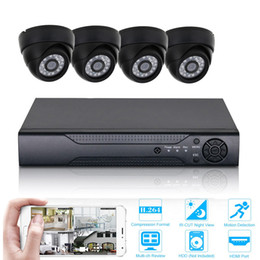 Indoor Hd Cctv Camera Australia - 4CH 1080P DVR Kit HD CCTV Camera System Video Recorder Set P2P mobile phone viewing indoor Security