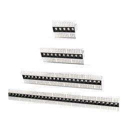 14cm 27cm 54cm 107cm Yok Ana Aydınlatma Trimless Manyetik Lineer Gömme Modern Grille Işık 5W 10W 20W 40W LED