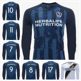 donovan soccer Australia - 2019 2020 Los Angeles Galaxy Long Sleeve Soccer Jerseys 9 IBRAHIMOVIC LLETGET COLE GIOVANI DONOVAN Customize 19 20 Home Blue Football Shirt