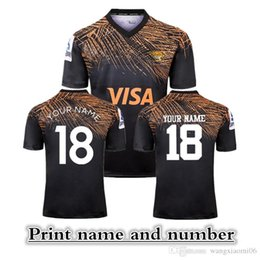 Wholesale 2019 NEW ZEALAND Super RUGBY JAGUARES HOME RUGBY JERSEY size S XXXL Print name and number Top quality