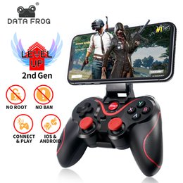 iphone tv box UK - Data Frog Wireless Bluetooth Gamepad Support Official App Game Controller For iphone Android Smart Phone For PS3 PC TV Box