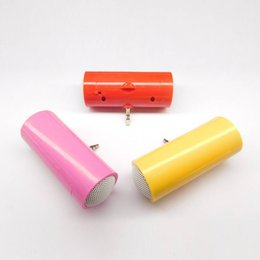 China JS For Mini Bluetooth Speaker 3.5mm Portable Bass Stereo Speaker Music MP3 Player Amplifier Loudspeaker For Mobile Phone Tablet cheap portable amplifier for tablet suppliers