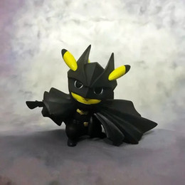 $enCountryForm.capitalKeyWord Australia - Batman Pikachu action figures Cosplay Batman PVC cartoon Pikachu Model Gift for kids girl birthday gifts