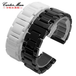$enCountryForm.capitalKeyWord Australia - Ceramic Polished Watchbands For Smart Watches Wrist Band Fit Gear S2 S3 S4 Moto 360 2set 20mm 22mm Fashion Promotion Watch Strap T190620