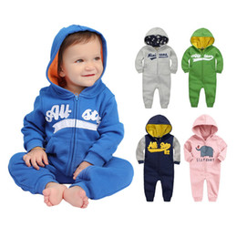 $enCountryForm.capitalKeyWord NZ - Spring Rompers Newborn Cotton Tracksuit Clothing Long Sleeve Hoodies Infant Boys Girls Jumpsuit Baby Clothes Boy Q190520