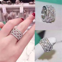 $enCountryForm.capitalKeyWord NZ - choucong Flower shape Eternity Finger ring Diamond White Gold Filled Engagement Wedding Band Rings For Women men Jewelry