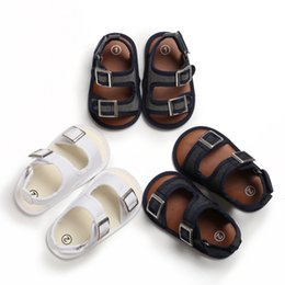 $enCountryForm.capitalKeyWord NZ - Baby Shoes Summer Cute Baby Boys Breathable Anti-Slip Sandals Toddler Soft Soled Solid Print First Walkers