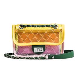 12400a15c1 Designer Jelly Bags UK - Summer Transparent Pu Fashion Women Chain  Messenger Bag Beach Jelly Female