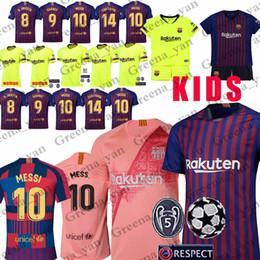 promoción 10 Messi Barcelona Soccer Jersey 8 Iniesta 9 Suarez 26 MALCOM 11  Dembele Coutinho Camisetas de fútbol Hombre Mujer Niños e564e88f689