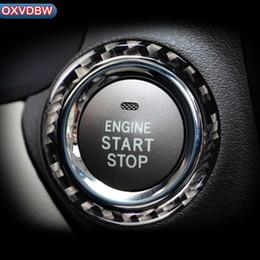 $enCountryForm.capitalKeyWord Australia - For LEXUS IS250C 300 350C Accessories Car Engine Start Stop Ignition Key Ring Stickers Carbon Fiber circle Trim 2006-2012 styling