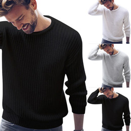 Discount korean style sweater male - Cysincos Men's Autumn Sweater Pullover 2019 Fashion Casual Jumper for Male Korean Style Clothes Knitted Sweaters Ma