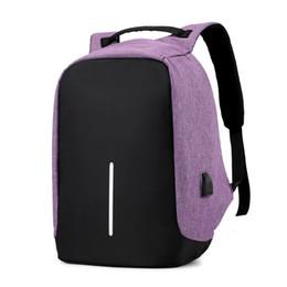 Waterproof Tablet China UK - Laptop Tablet bags Outdoor Charging Backpack with USB Port Waterproof Breathable Travel Bag Wear-resisting Anti-theft Backpacks