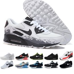Cheap White Dress Shoes Men Australia - High Quality 2019 Air Cushion 90 Casual Running Shoes Cheap Black White Red 90 Men Women Sneakers Classic Air90 Trainer Outdoor Sports Shoe