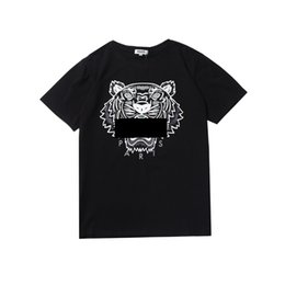 Wholesale prints for tshirt online – design More Colors Shirts For Men Tiger Head KENZO Tops Shirt Clothing Brand Short Sleeve Round collar Tshirt Men Women S XL