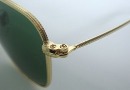 $enCountryForm.capitalKeyWord Australia - Wholesale-1Pair High Quality Mens Fashion Square Sunglasses Gold Metal Sun Glasses Green 54mm Glass Lenses With Brown Case