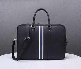 Women nylon briefcase online shopping - designer briefcases men business handbag top quality genuine leather Lus Vit handbag real leather large capacity handbag