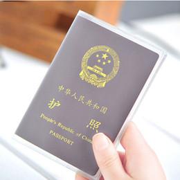 Transparent Cards Australia - Transparent Waterproof Passport case Cover Document ID Card bank card Holder Case Travel passport bags storage