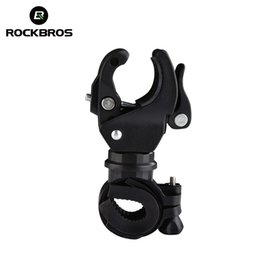 Bicycle Torch Clamp Australia - RockBros 8 DESIGNS Wholesale Bicycle Cycling Grip Bike Mount Clamp Clip Flashlight LED Torch Lamp Light Bracket Stand Holder #204891