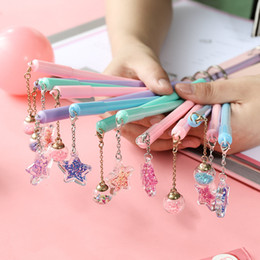 $enCountryForm.capitalKeyWord Australia - Korea cute creative girl heart pen couple love fairy pendant pen wind chime black