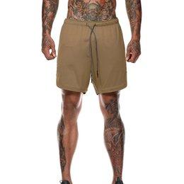Мужские повседневные шорты Скрытый мобильный телефон внутри карманов Большой размер Летние быстрые сушилки Пляжные шорты Тренировки Фитнес Спортивные