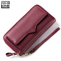 women cell phone clutch NZ - Brand Large Capacity Women Wallet Clutch Cell Phone Pocket Card Holder Long Wallets Female Wristband Ladies Handbag Purse Hot MX190718