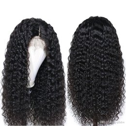 front layered hair Australia - Fake Scalp Lace Front Human Hair Wigs For lack Women 13x6 Frontal Virgin Brazilian Curly Lacefront Wig Pre Plucked With Baby Hair