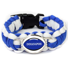 $enCountryForm.capitalKeyWord Australia - American Athletics LEAGUE Indianapolis football teams survival paracord bracelets bangles for fans gifts