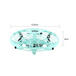 ufo toys fly Canada - AX-8601 Mini RC Drone with Sensors 2.4G 4CH Quadcopter Gyro Fly Ball Smart Shatterproof Pocket UFO Safe Toys for Kids