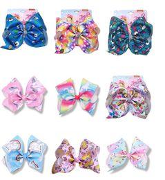 "$enCountryForm.capitalKeyWord UK - 8"" Jojo Siwa for Baby Hair Clip Unicorn Large Hair Bows for Girls With Clips Bowknot Hairpin Handmade Hair Accessories Jojo Bows 10pcs"
