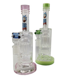 Water Pipe Splash Guard Australia - Cheap Glass Bongs Highly Recommended Double 8 Arm Tree Percolator Splash Guard Glass Water Pipes thick bong 14.4mm joint