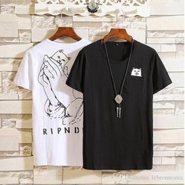 $enCountryForm.capitalKeyWord Australia - Cat in pocket Tshirt spring summer sport casual rip n dip t-shirt Black White funny brand t shirt Mens Cat Graphic Print Funny Tees M-5XL