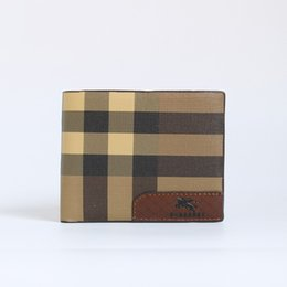 Wallet purse for men women cow Leather Card Cases ID bifold Holder bag black z518
