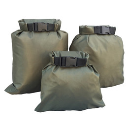 nylon coating Canada - 3Pcs Set Carrying Valuable Perishable 30D ultra-high quality DuPont cordura coated silicon-Nylon Green Waterproof Bag