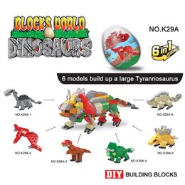 Discount lepin blocks - Dinosaur building blocks world Dinosaur eggs 6 pcs set Kids DIY building blocks Lepin Blocks Kids toys wholesale SS168