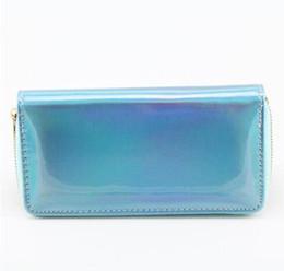 China Clutch Bag UK - ETya Women's Fashion Laser Long Wallet Pu Leather Coin Money Card Pocket Phone Zipper Clutch Wallets Wallet Pouch