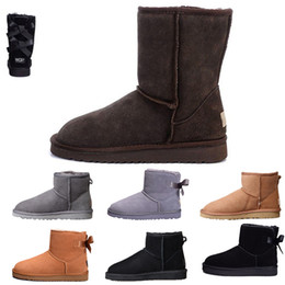 soft heels 2019 - 2019 Hot WGG women boots ankle black ankle grey Knee grey WGG designer womens shoes winter snow boots 36-41 cheap soft h