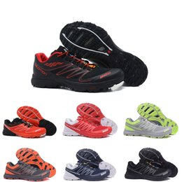 cross running shoes 2020 - New Fashion men sneakers Speedcross speed cross S-LAB red black white running shoes FELLCROSS outdoor sport trainers siz