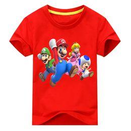 Baby Tees Australia - Baby Cotton T Shirt Costume For Kids Cartoon Mario T-shirt Clothing Boy Girls Summer Short Tees Top Unisex Children Tshirt Dx146 J190427