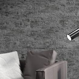 Plain Paper Rolls Australia - Retro Nostalgic 3D Plain Color Cement Gray Wallpaper PVC Waterproof Nordic Living Room Clothing Store Wallpaper Home Decor Roll