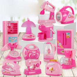 Toy Machines Australia - Children's Electric Lighting Mini Play Home Washing Machine Rice Cooker Refrigerator Kitchen Small Appliances Toys