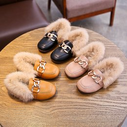 kids ankle boots girls Canada - 2019 Winter Fashion Children Girls Thick Wool Ankle Boots Designer Infant Kids Warm Snow Boots Casual Baby Leather Loafers Shoes