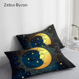 $enCountryForm.capitalKeyWord Australia - 3D Pillow Case Pillowcase Custom 50x70 50x75 50x80 70x70 Decorative Pillow Cover,moon and stars Bedding,Drop Ship