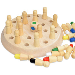 color matching toys Canada - Kids Memory Chess Game Wooden Match Stick Party Game Educational Color Cognitive Ability Funny Puzzle Toys Board Games