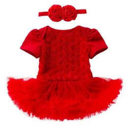 c8a154bfe0e 2019 summer baby rompers rose flower girl dresses valentines day gifts tutu  jumpsuits newborn onesies little girls clothing boutique clothes