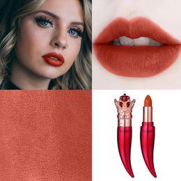 $enCountryForm.capitalKeyWord Australia - Lipstick Matte Waterproof Velvet Lip Stick 5 Colors Luxury Queen Crown Lipstick Pigments Makeup Matte Lipsticks Beauty Lip TSLM1