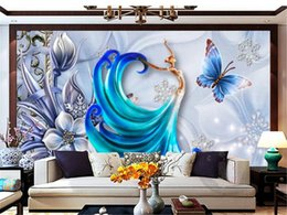 insulation prices 2019 - 3d Wallpaper Murals Beautiful ornate three-dimensional angel wall decoration wallpaper Low Price For Wallpaper discount